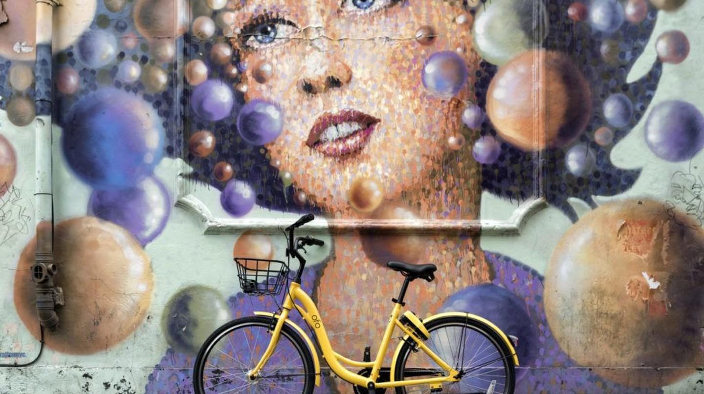An Ofo bike in Shoreditch, London
