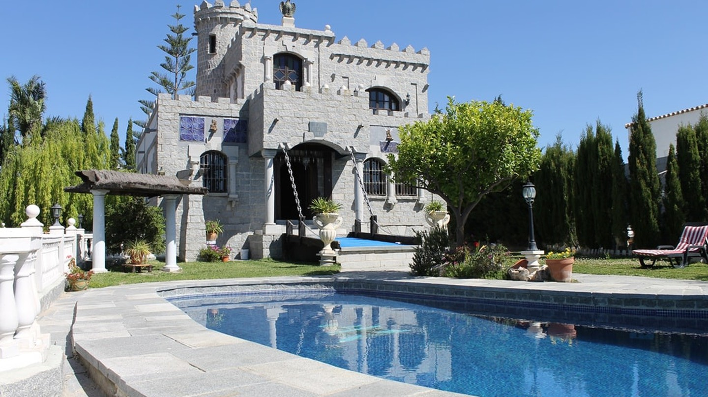 A medieval-style castle is on sale in southern Spain; courtesy of Aida estate agency