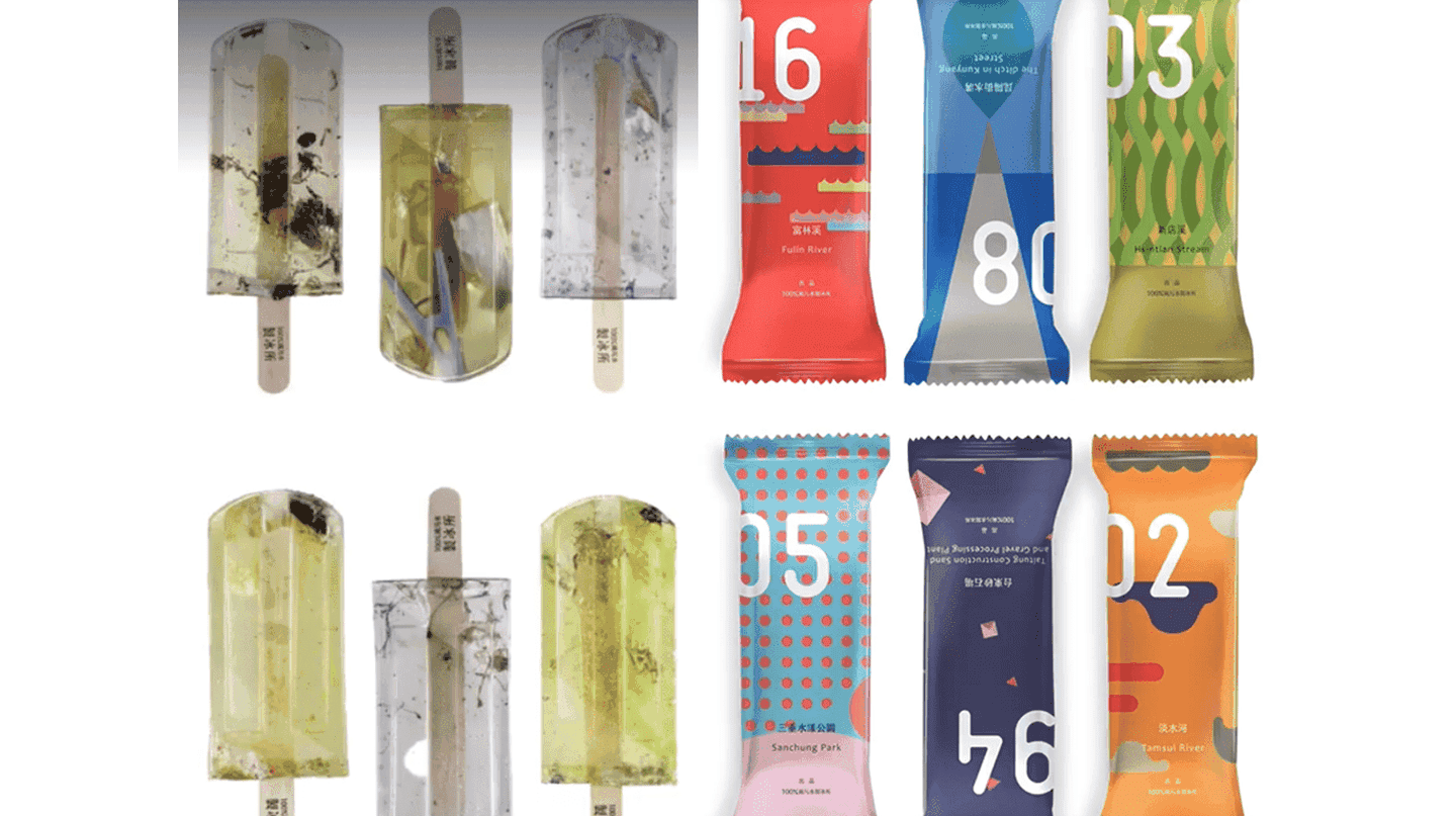 Not your typical summer treat   © 100% Polluted Water Popsicles
