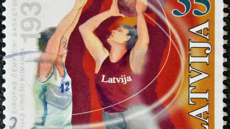 Latvian basketball stamp | © neftali/Shutterstock