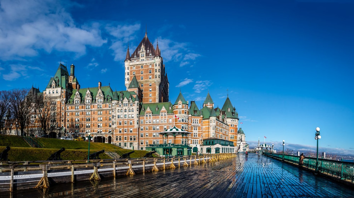 Frontenac Castle and Dufferin Terrace, Quebec City, Canada