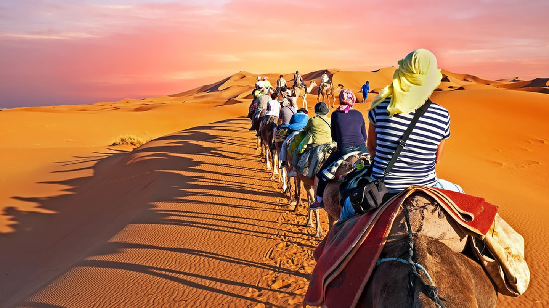 Camel caravan going through the desert in Morocco | © Steve Photography/Shutterstock