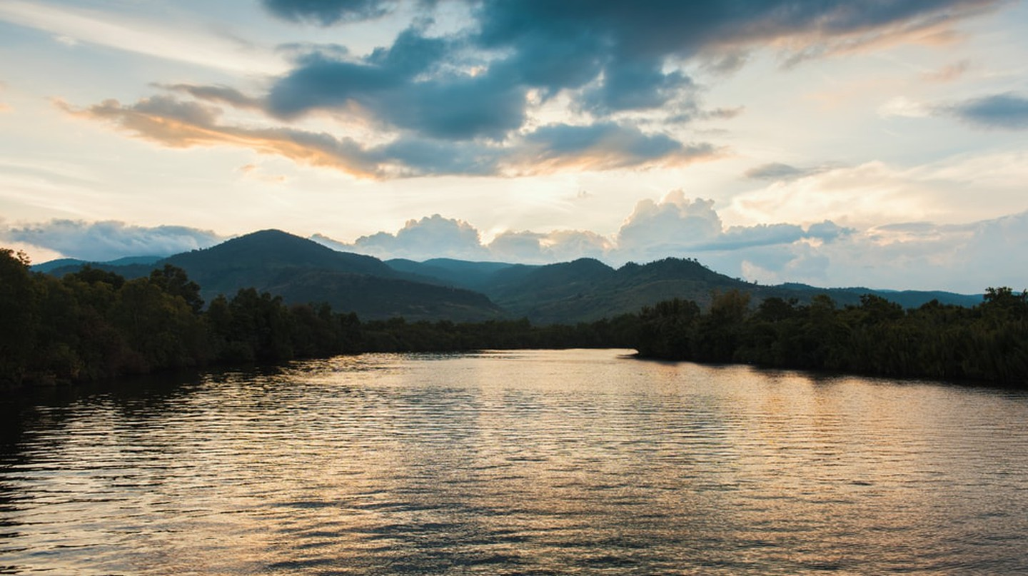 Enjoy the views across Kampot River