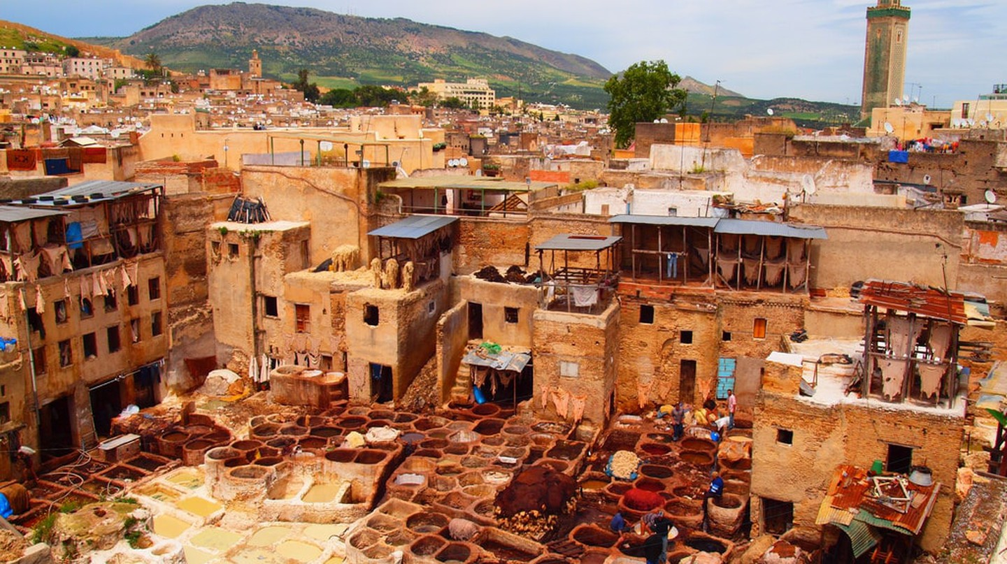 "<a href=""https://www.flickr.com/photos/alextorrenegra/4583770043/"" target=""_blank"">A tannery in Fez 