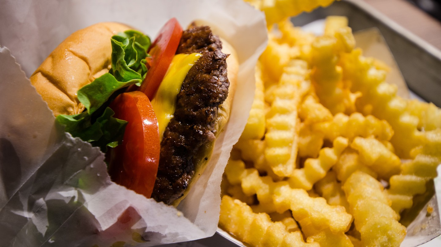 Shake Shack knows how to properly assemble a cheeseburger.