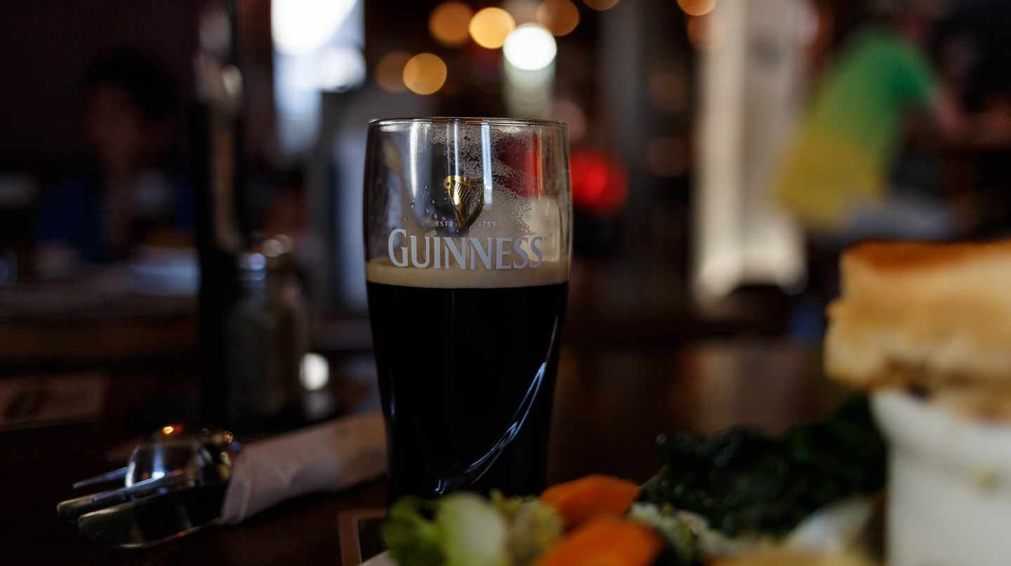 Glass of Guiness at the Pig & Whistle, Rotorua