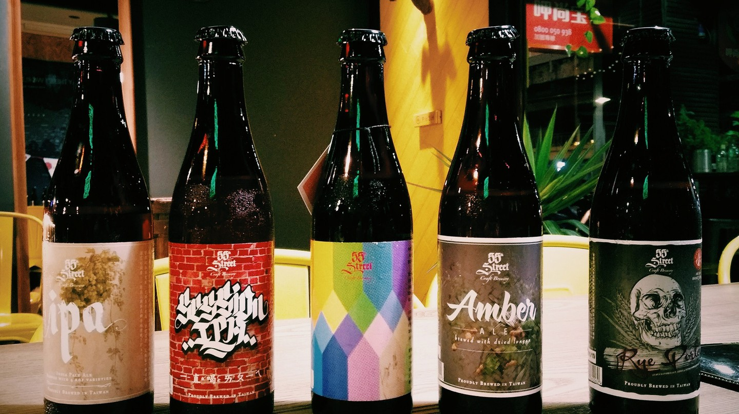 Imported beers at Halfway There | Courtesy of Halfway There