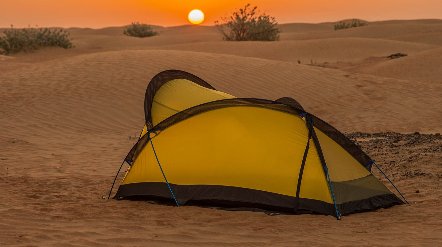 Camp in Oman Desert | © Peterichman / Flickr