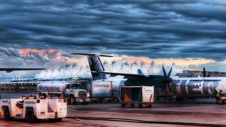 Blue Storm over DIA   © James Joel / Flickr