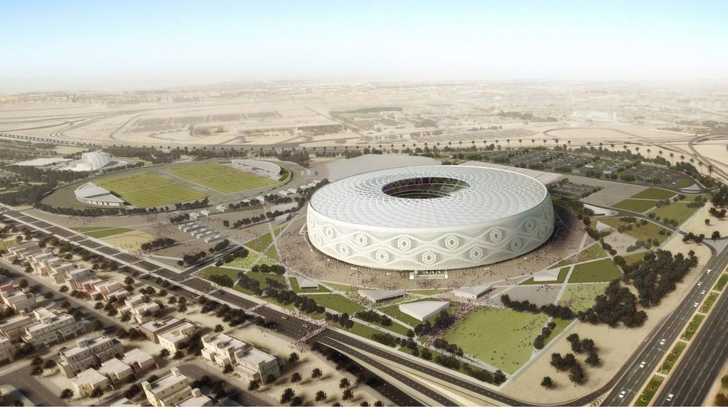 Al Thumama Stadium shaped like an Arab Cap for FIFA World Cup 2022