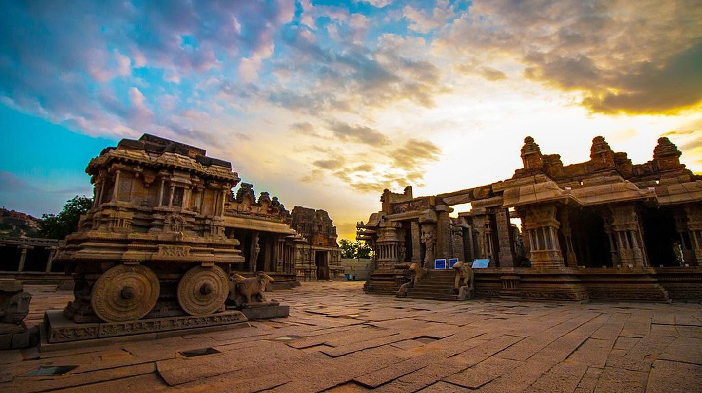 Stone chariot at the Vittala Temple, Hampi