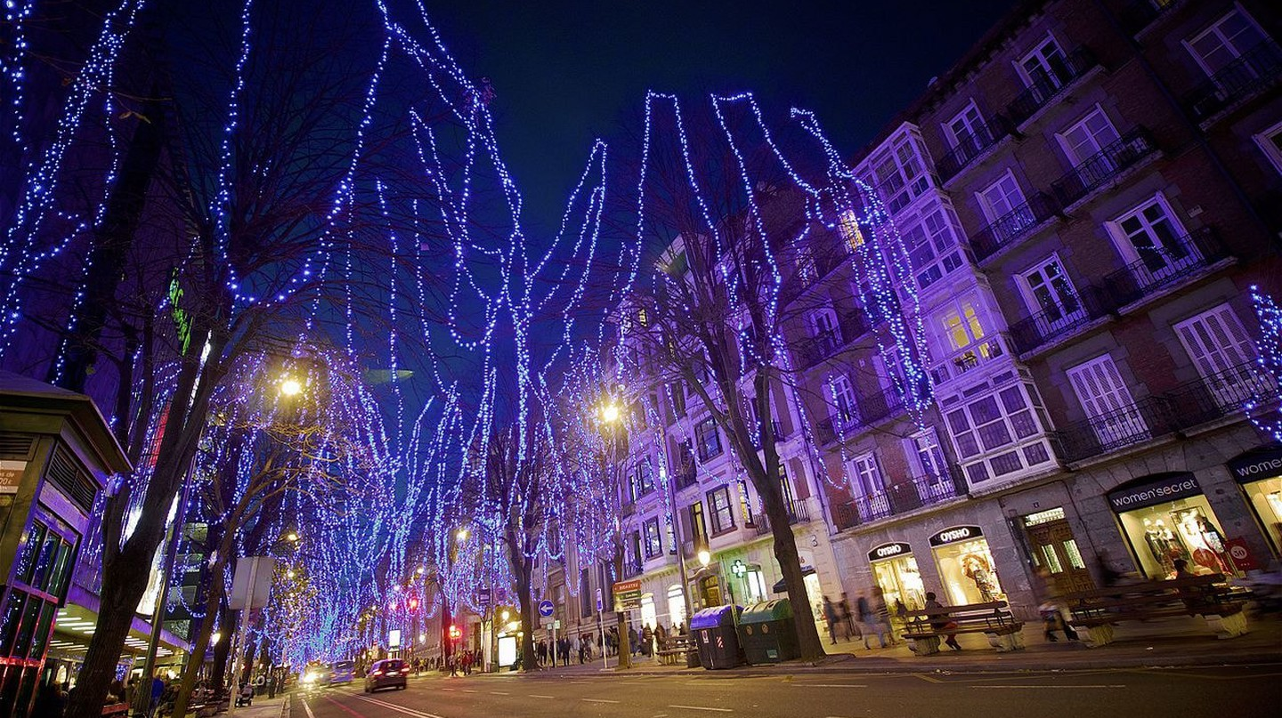 Christmas lights in Bilbao | © Roman San / Flickr