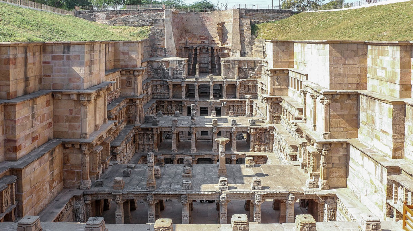 Rani Ki Vav is a seven storey deep stepwell