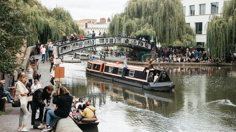 Regent's Canal runs through Camden