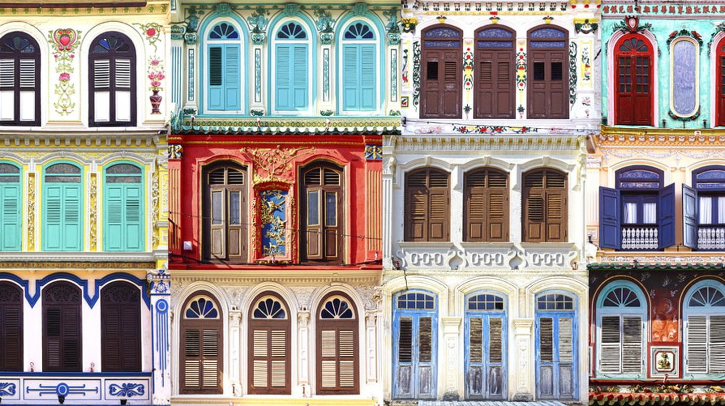 Antique windows at Junker walk, Maleka, Malaysia | © Igor Plotnikov/Shutterstock