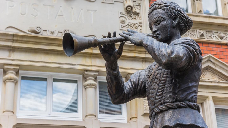 Pied Piper Statue in Hamelin
