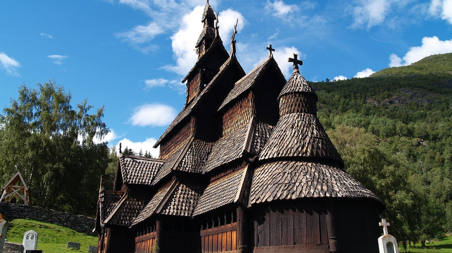 View of Borgund stave church | © zoetnet / Flickr