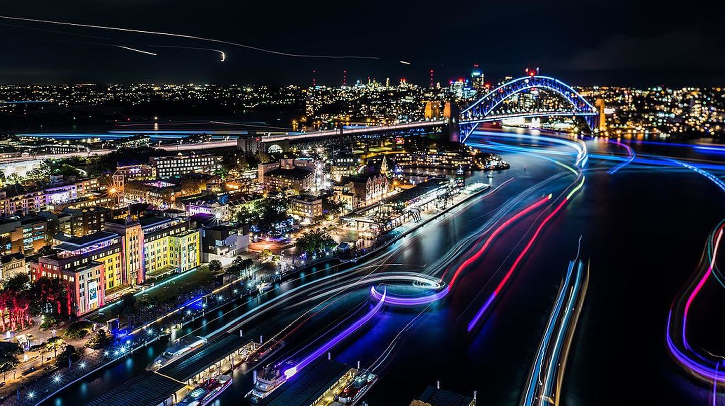 Vivid Sydney | © Allison Lee/Wikimedia Commons and Destination NSW