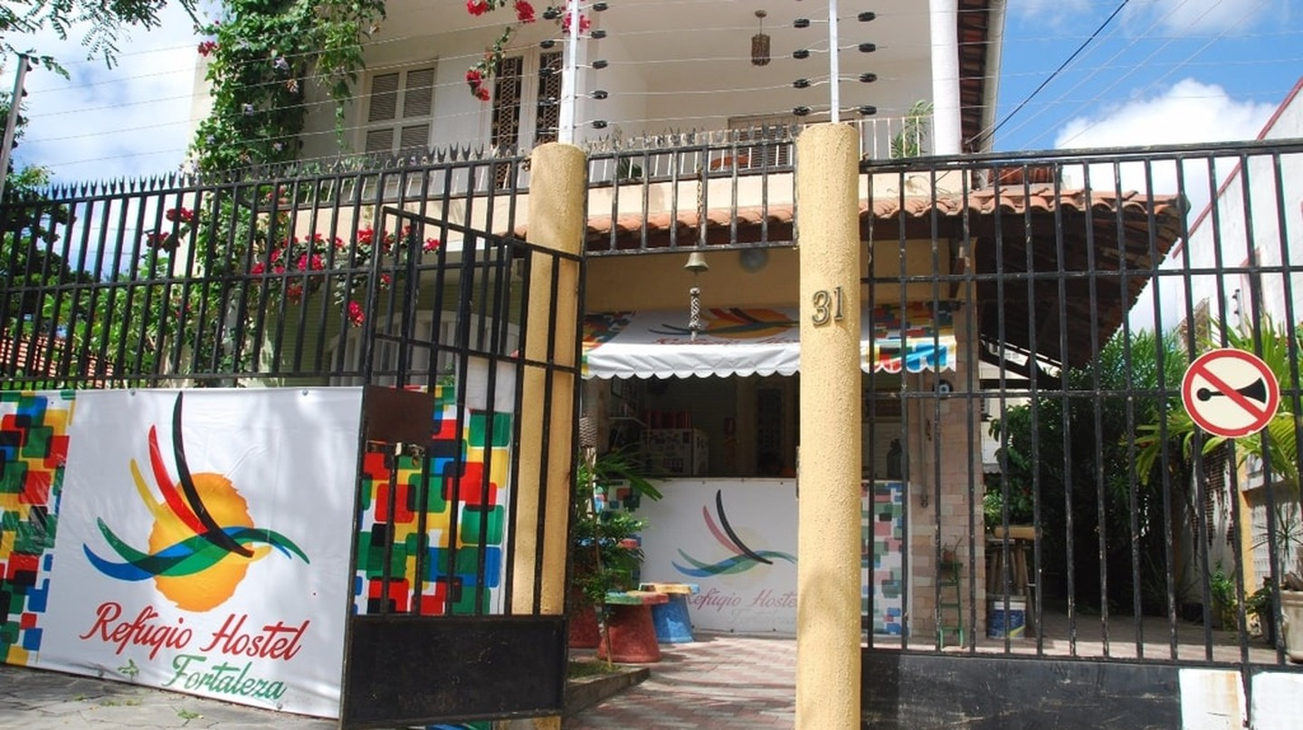 The Refugio Hostel in Fortaleza is bright, colorful, and a laid-back place to stay