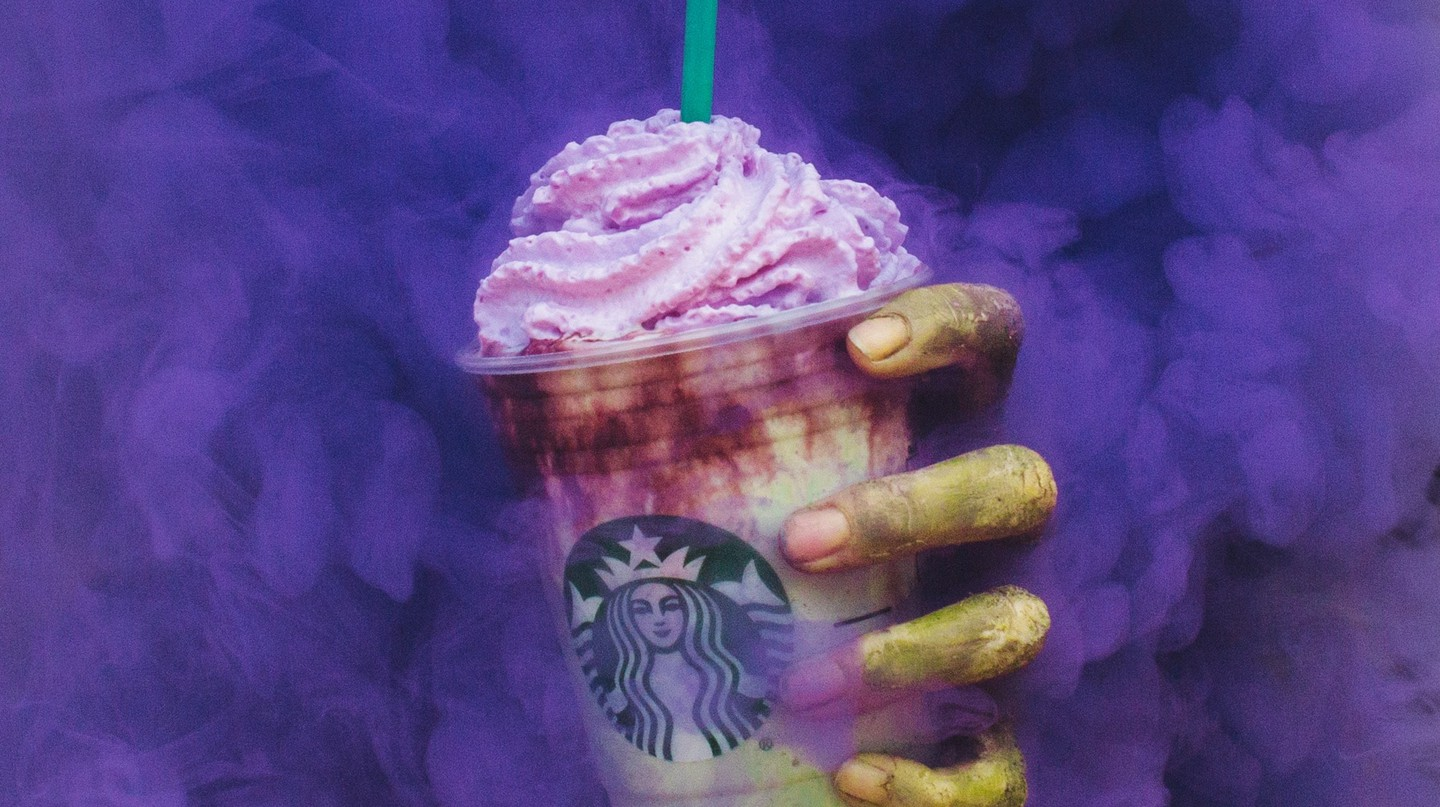 Starbucks' Zombie Frappuccino | Image courtesy of Starbucks