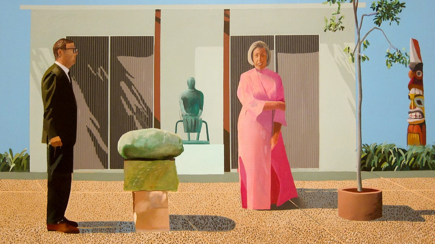 David Hockney, American Collectors (Fred and Marcia Weisman), 1968 | Photo by Sharon Mollerus / Flickr