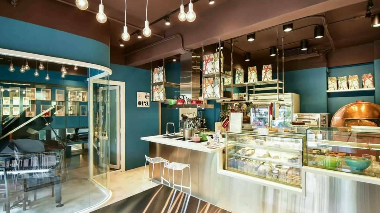 The uber-stylish interior at Andrea Italy | Courtesy of Andrea STYLE | MUSIC | CUISINE