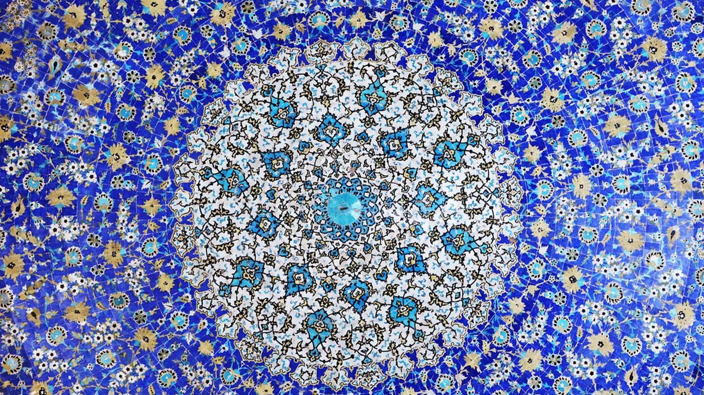A beautiful mosaic in Isfahan, Iran; a growing hotspot for honeymoons