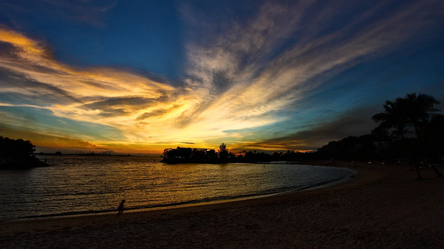 Sunset at Sentosa Island