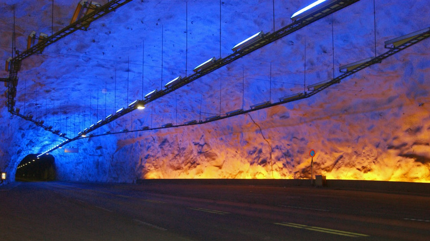 World's longest road tunnel is in Norway | © Jørn Eriksson / Flickr