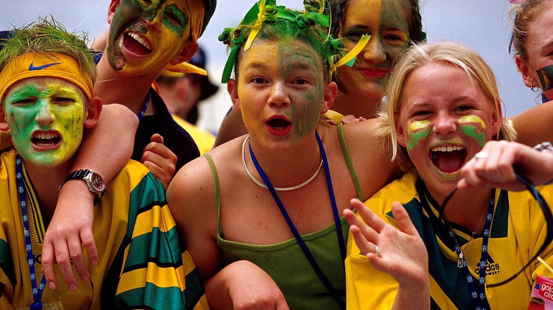 Australian fans | © Australian Sports Commission/Wikimedia Commons