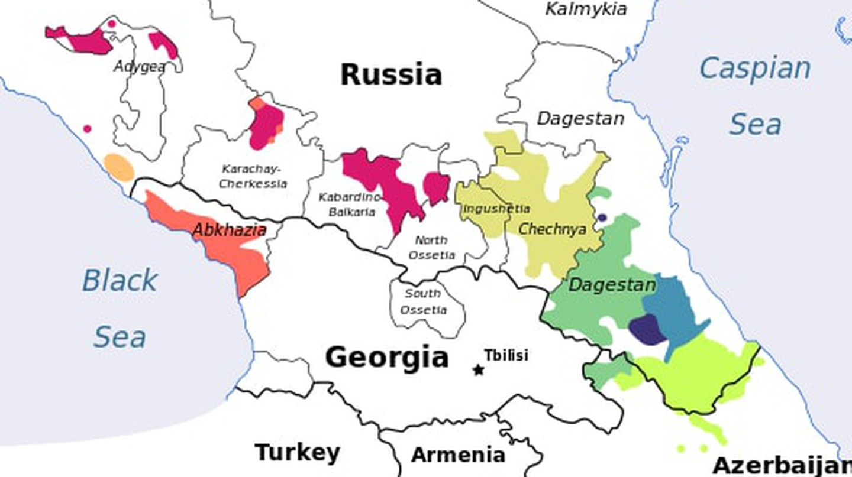 Caucasian Languages | © kwami / WikiCommons
