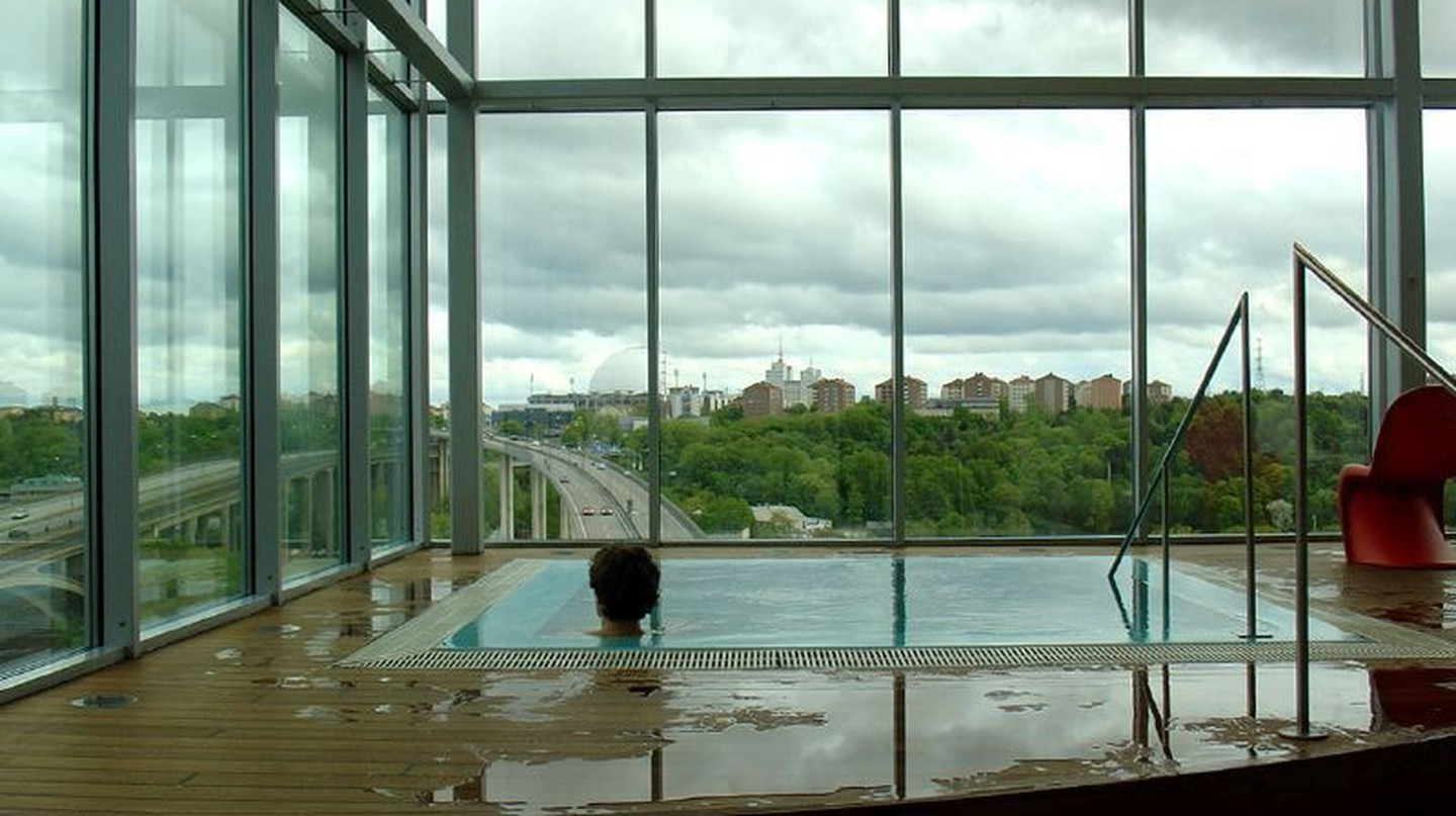A spa with a view