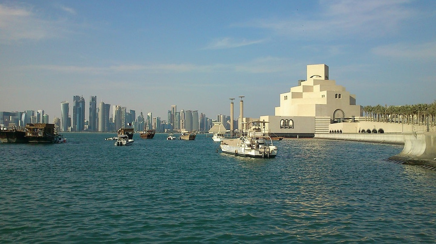 The Doha skyline and the Museum of Islamic Art