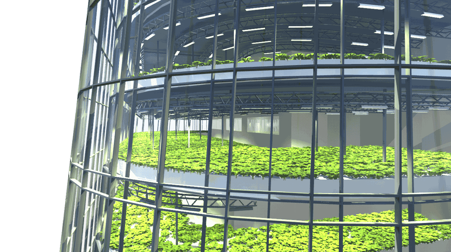 Sweden is leading the way for sustainable urban architecture that could help solve world food shortages | Photo courtesy of Plantagon