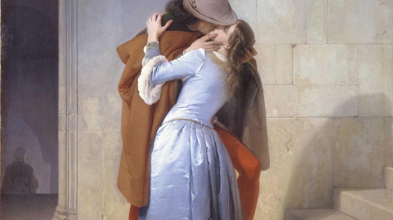 Francesco Hayez, 'The Kiss' (1859) at Pinacoteca di Brera, Milan