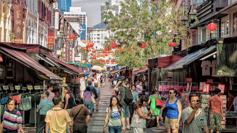 Pedestrian zone Pagoda street, Singapore