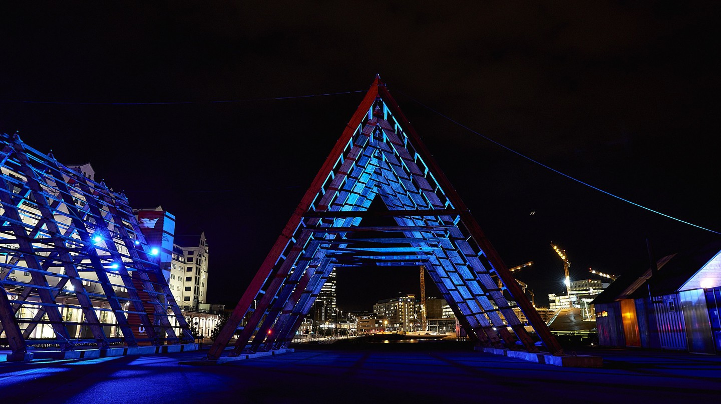 The SALT pyramid in Oslo |© Baard Henriksen, Courtesy of SALT