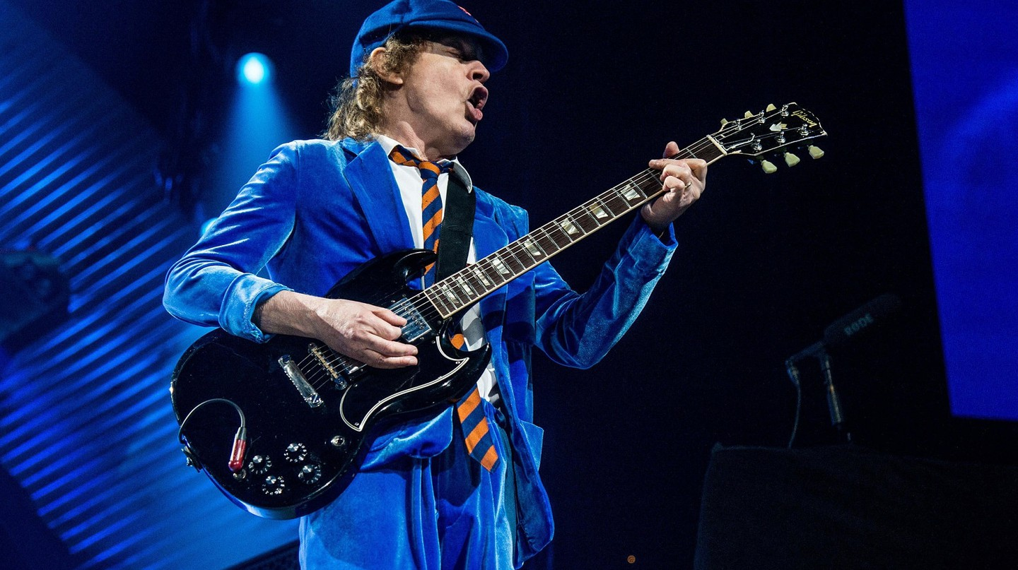 Angus Young of AC/DC at a 2016 concert