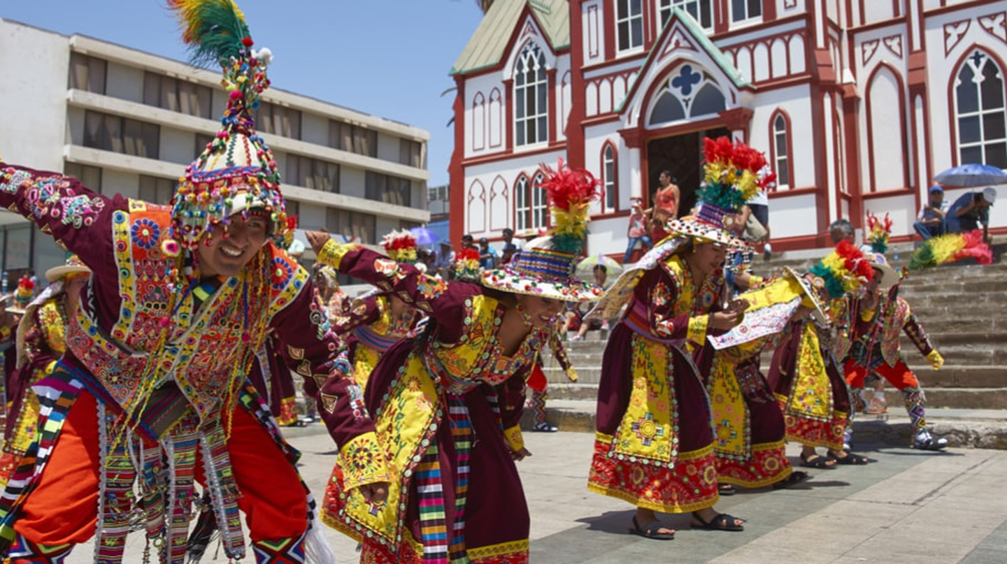 Tinkus dance during a street parade, Arica, Chile | © JeremyRichards/Shutterstock
