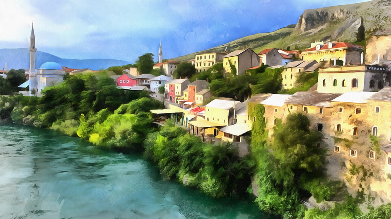 Painting of Neretva River | © Idea Studio/Shutterstock
