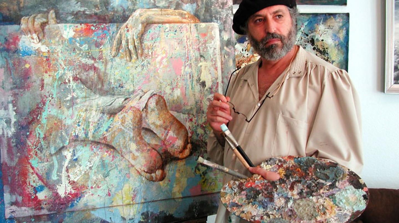 Zoro Mettini painting in a beret |© Wikimedia Commons