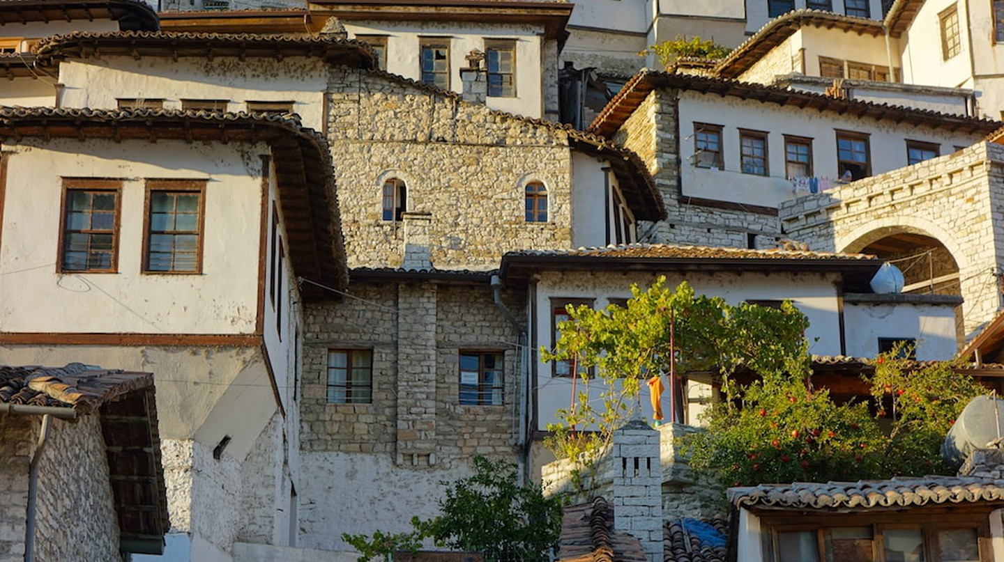 Berat is a Unesco town located in the centre of Albania and famous for its Ottoman-era buildings