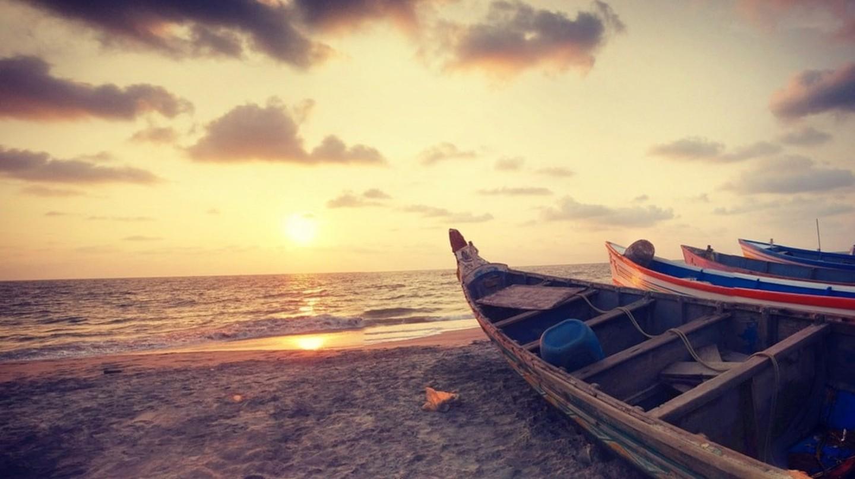 Alappuzha beach sunset