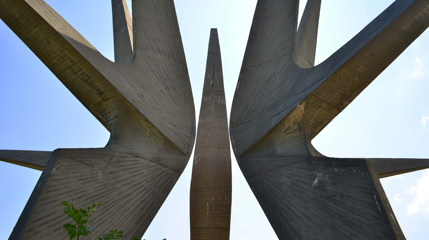 The monolithic monument at Kosmaj, near Belgrade