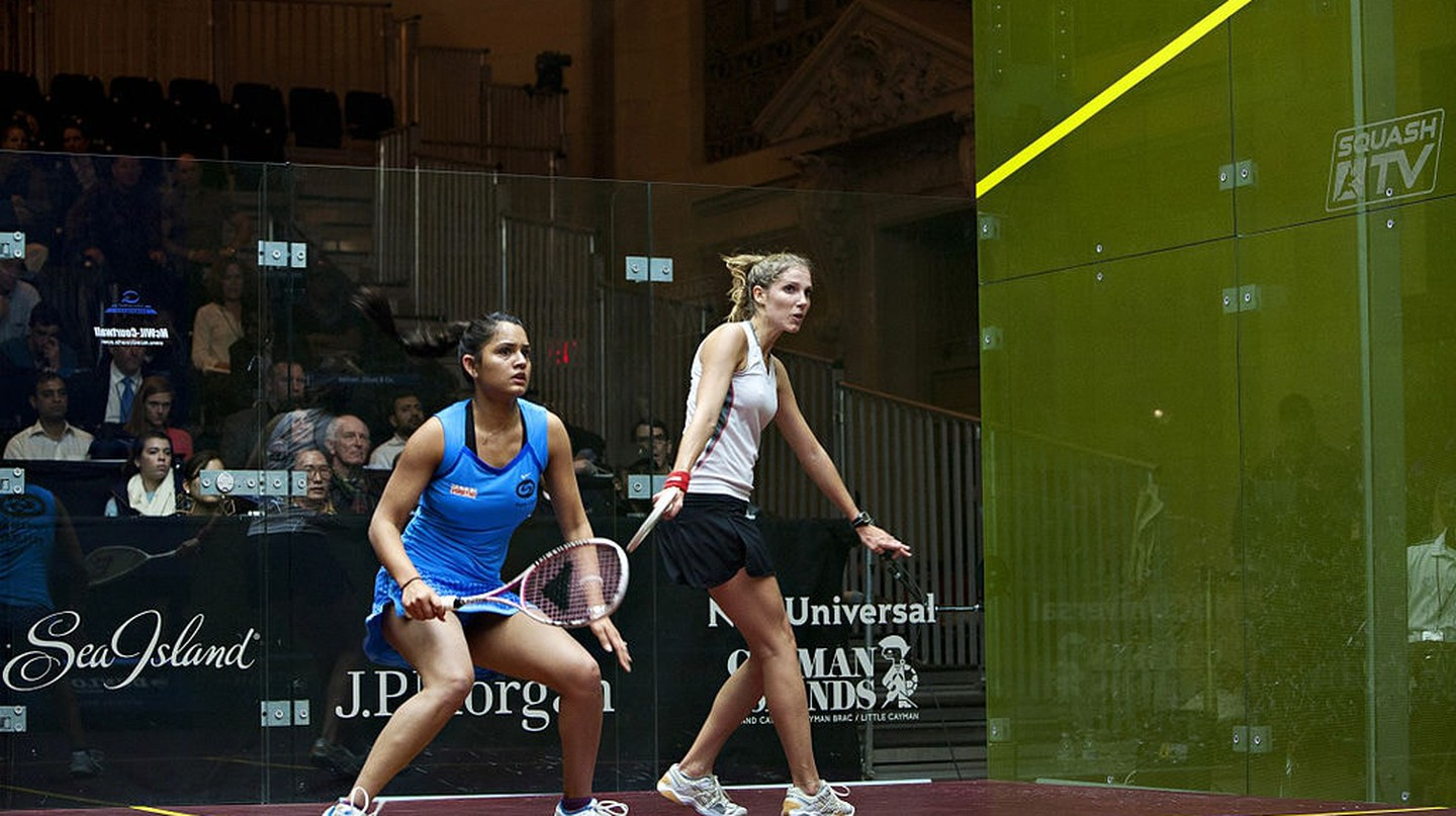 Chennai-born Squash Champion Dipika Pallikal playing at a tournament in New York | © Julesgriff / WikiCommons