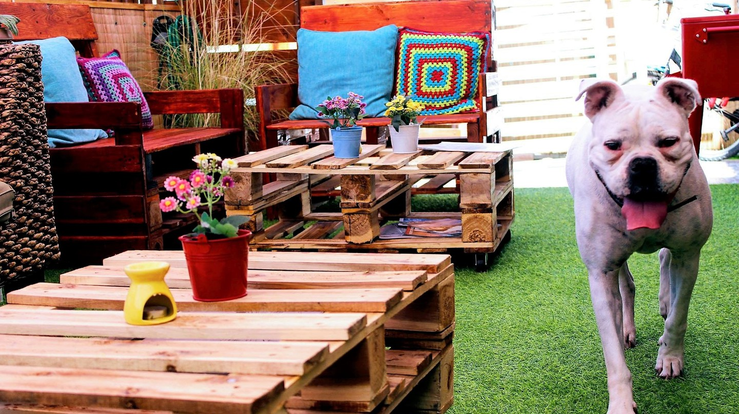 Beautiful Front Patio & Company | Courtesy of Amanda Hostel & Restaurant