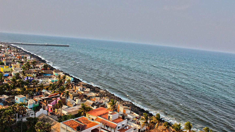 Aerial view of Promenade Beach   © Karthik Easvur / Wikimedia Commons