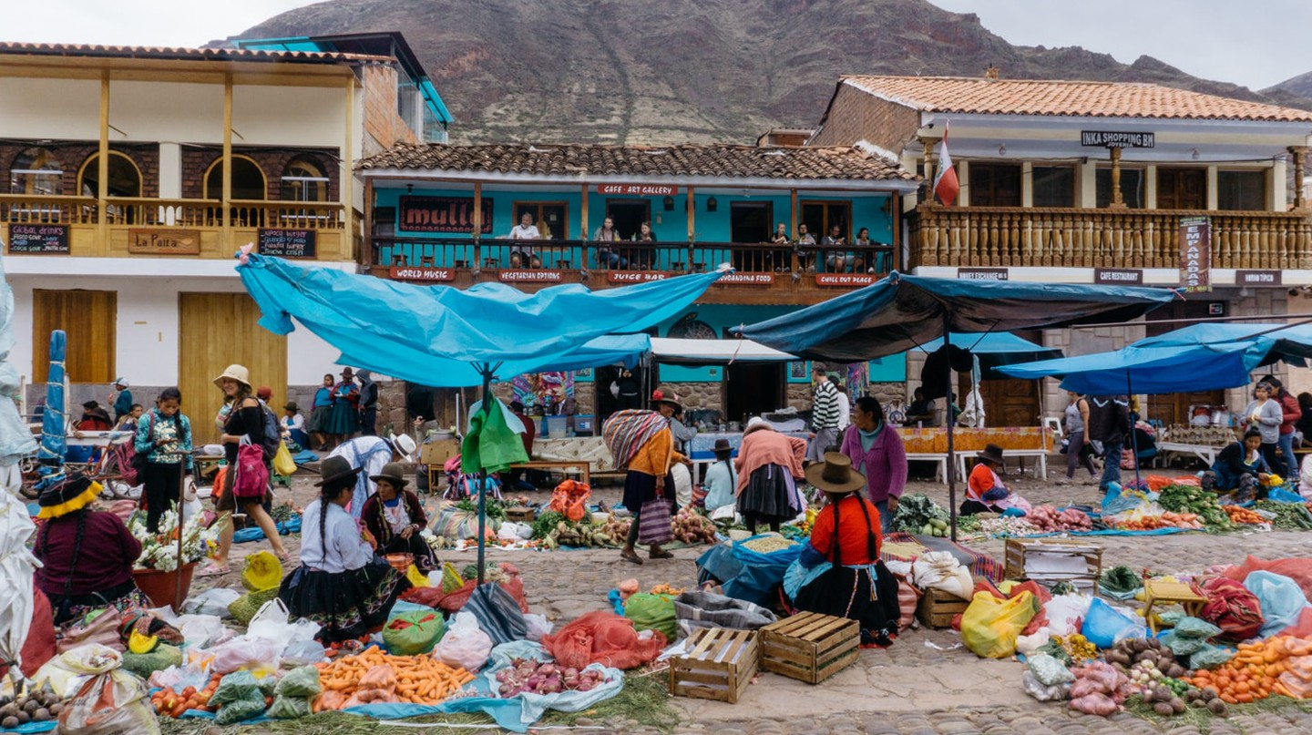 A market in the Sacred Valley