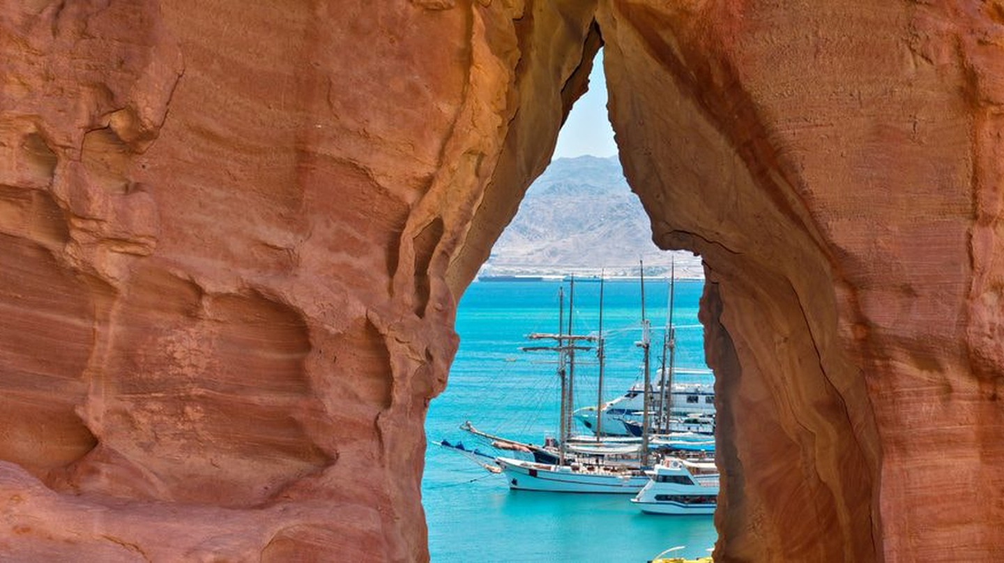 View of the Gulf of Aqaba with boats and yachts in Eilat marina, Israel | © Sergei25/Shutterstock
