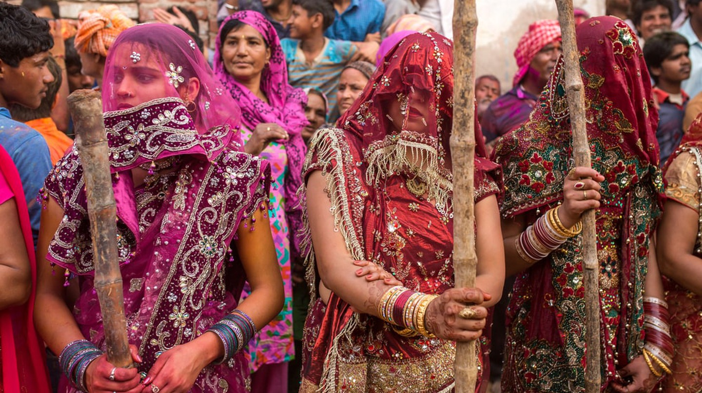 Lath Mar Holi is a Hindu festival celebrated in Mathura, India | © Alexander Mazurkevich/Shutterstock